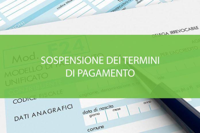 sospensione dei termini di pagamento